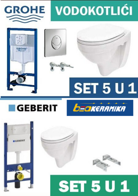 GEBERIT SET 5 U 1